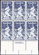 US - 1983 - 20 Cents Blue Babe Ruth Baseball Issue #2046 Copyright Block Mint NH