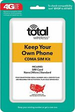Total Wireless 3-in-1 Prepaid SIM Set Make your phone more active.