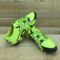 Adidas Mens X 15.3 FG/AG Soccer Cleats Yellow Black Lace Up Low Top B27001 10.5