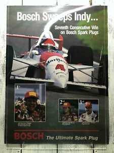 Vintage 1993 Grand Prix Marlboro Racing Poster Bosch Sweeps Ultimate Sparks Plug