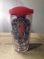 Tervis Tumbler SIMPLY SOUTHERN SEAHORSE Tumbler with Pink Tervis Lid