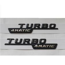 Black TURBO 4MATIC Letters Emblem Badge Badges Emblems for Mercedes Benz AMG