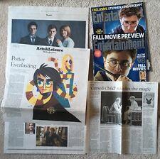 Lot 4 Harry Potter: 2010 Entertainment Wkly Daniel Radcliffe, Cursed Child clips