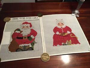 Santa & Mrs. Claus Needlepoint Pillow Canvas - Susan Treglown Design - - NEW
