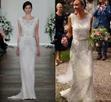 Crystal Shiny Garden Wedding Dress Bridal Gown Keyhole Jenny Packham Full Length