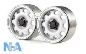 """1.9"""" Aluminium Alloy Metal Beadlock Spoke TRX4 Axial TRX6 Crawler Wheels (1Pr)"""