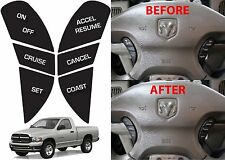 Replacement Steering Wheel Button Stickers For 2002-2005 Dodge Ram New Free Ship
