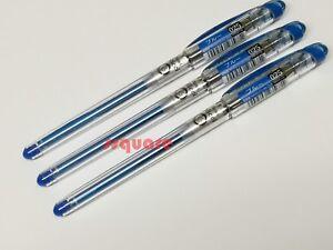 3 Pens x Pentel Slicci 0.25mm Ultra Fine Liquid Gel Rollerball Pen, Blue