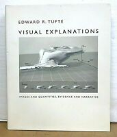 Visual Explanations Images & Quantities by Edward R. Tufte 1997 HB/DJ
