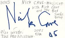 Nick Cave Singer Musician Nick Cave and The Bad Seeds Signed Index Card JSA COA
