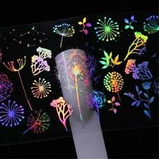 Flower Plant Dandelion Design Holographic Nail Art DIY Nail Sticker Fashion