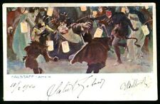 LEOPOLDO METLICOVITZ 31 FALSTAFF - GIUSEPPE VERDI - OPERA LIRICA viaggiata 1904