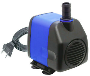 400 GPH Submersible Fountain Pond Aquarium Water Pump Powerhead Hydroponics
