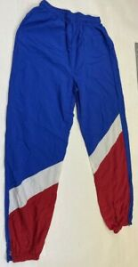 Vintage 90's soft laundered polyester/nylon  track pants  Size M made in USA