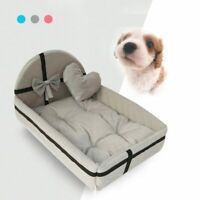 Cute Pet Dog Cat Bed House Chew Proof Beds Elevated Warm Sofa Plush Mattress