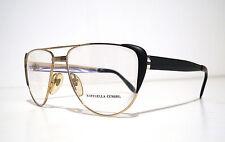 Piave Raffaella Curiel Black Lady Aviator Eyeglasses Occhiali + Versace Case NOS