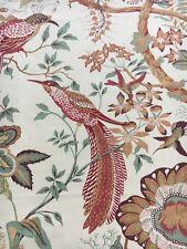 Sanderson Curtain Fabric SUVA 0.65m Sand/Cream/Brown Traditional Design 65cm