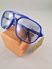VINTAGE B&L RAY BAN USA Bright Blue Gray Changeable Large SUNGLASSES NEW