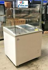 New 31 Ice Cream Gelato Glass Dipping Freezer Showcase Display Commercial Nsf