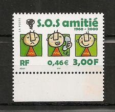 "Timbre de France neuf N°3356 "" S.O.S. amitiés "" Année 2000"