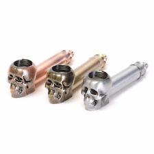 Skull Design Metal Tobacco Smoking Pipe + 5 Smoking Screens *US SELLER*