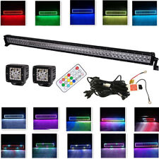 "50"" 288W Led Light Bar Combo + 2x 3"" 24W Spot Pods with RGB Halo Remote Control"