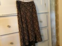 Chaps Women's Skirt size 8,  polyester Brown elegant for work or evening apparel