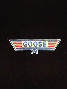 Top Gun Goose embroidered patch, badge Iron on or Sew on