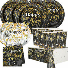 Sparkle New Year Party Supplies Tableware (Cups Plates Napkins Tablecover)