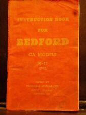 BEDFORD CA Models 10-12 CWT Instruction Book 1956