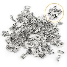 Wholesale 100Pcs Bulk Mixed Silver Charms Pendants DIY Jewelry Making Craft CA