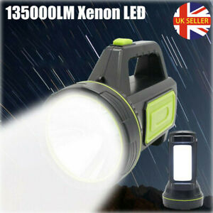 High Power 135000LM Flashlight LED Rechargeable Battery Torch Hand Light Hiking