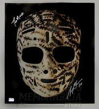 Gerry Cheevers Boston Bruins Signed Autographed Mask 16x20 Inscribed The Mask B