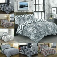 Duvet Cover with Pillow Cases Printed Quilt Bedding Set Single Double King Size
