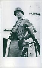 George Smith Patton a senior officer of the United States Army standing and posi