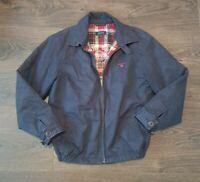 GANT New Haven Blue Harrington Jacket Coat Boys L 12/13yrs tartan lightly padded