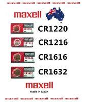 Multiple MaxW Batteries CR1220 CR1616 CR1632 CR1216 Melbourne Stock