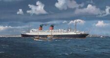 "SS Ile de France French Line CGT Ocean Liner Painting Art Print - 17"" Print"