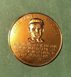 1966 St Louis Cardinals Busch Immortals Coin  JESSE HAINES