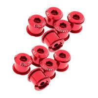 10PCS Chainring Bolts Alloy M8 Crankset Single/Double Chainwheel Bolt & Nuts
