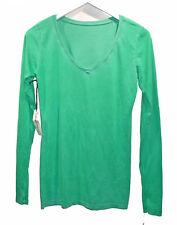 NEW COTTON CITIZEN Green T Shirt sz S Long Sleeves