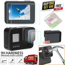 9H Hartglas schutzfolie LCD-Blendschutz + Linsenfolie für GoPro HERO 8 Black