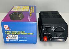 MW MW122A Multi-Voltage 2 AMP Regulated DC Power Supply 3V 4.5v 6V 7.5V 9V 12V