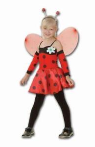 Funstars Girls Fancy Dress Ladybug Childrens Ladybird Costume Outfit Age 7-10