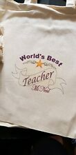 Personalised WORLD'S BEST Mum Nan Grandma Teacher TOTE Cotton shopping Bag