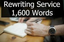 Content Rewriting Service - 1,600 Words of Article or Book Text