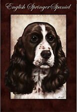 New Large Evergreen House Flag English Springer Spaniel Dog - 29 x 43
