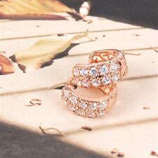 18K Rose Gold Filled Cz Huggie Earrings (E-222)