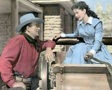 "JOHN WAYNE GAIL RUSSELL ANGEL & THE BADMAN 1947 8x10"" HAND COLOR TINTED PHOTO"