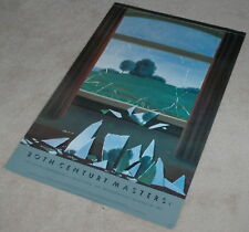 "Vintage Rare Print Le Clef D."" R. Magritte 37"" X"" 24"" Modern 1970-1989 Unsigned"
